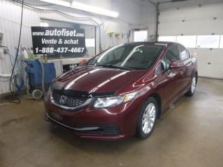 Used 2013 Honda Civic 4dr Auto LX  sieges chauffants, for sale in St-Raymond, QC