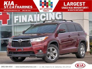 Used 2015 Toyota Highlander Limited | Leather | NAVI | Blindspot Alert for sale in St Catharines, ON