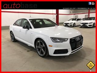 Used 2018 Audi A4 Sedan TECHNIK S-LINE BLACK ADVANCED DRIVER ASSIST HEAD-UP DISPLAY for sale in Vaughan, ON