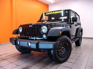 Used 2017 Jeep Wrangler SPORT 4X4 CLIMATISEUR *BAS KILOMÉTRAGE* for sale in St-Jérôme, QC