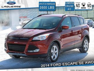 Used 2014 Ford Escape SE AWD + 2.0 L + 3500 LBS REMORQUAGE for sale in Victoriaville, QC