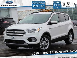 Used 2019 Ford Escape SEL 4WD **CUIR*CAMERA*FORDASS*BLUETOOTH** for sale in Victoriaville, QC