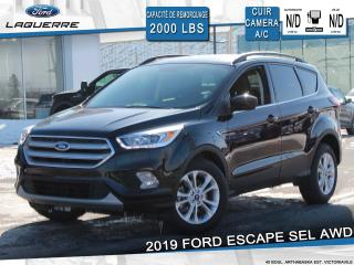 Used 2019 Ford Escape SEL 4WD ** CUIR*CAMERA*FORDPASS*APPLE CAR PLAY** for sale in Victoriaville, QC
