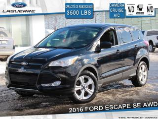 Used 2016 Ford Escape SE AWD **CAMERA*BLUETOOTH*ENSEMBLE REMORQUAGE** for sale in Victoriaville, QC
