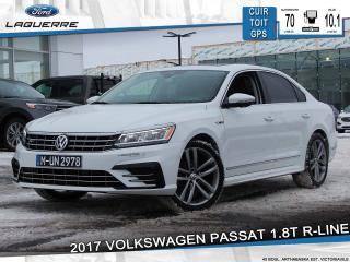 Used 2017 Volkswagen Passat 1.8T R-LINE**CUIR*TOIT*GPS*CAMERA*BLUETOOTH*A/C** for sale in Victoriaville, QC