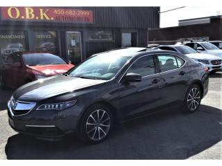 Used 2016 Acura TLX SH-AWD-V6-Tech pkg-NAVIGATION-CAM RECUL-TOIT OUVRT for sale in Laval, QC