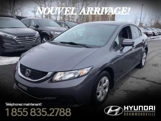 Used 2015 Honda Civic LX + GARANTIE + MAGS + CRUISE + WOW !! for sale in Drummondville, QC