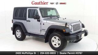 Used 2018 Jeep Wrangler JK Sport 4x4, V6, Automatic Transmission, Loaded for sale in Winnipeg, MB