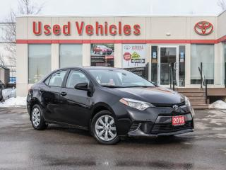 Used 2016 Toyota Corolla LOW KMS | R CAM | H SEAT | BLUETOOTH AUDIO | 1 OWN for sale in North York, ON