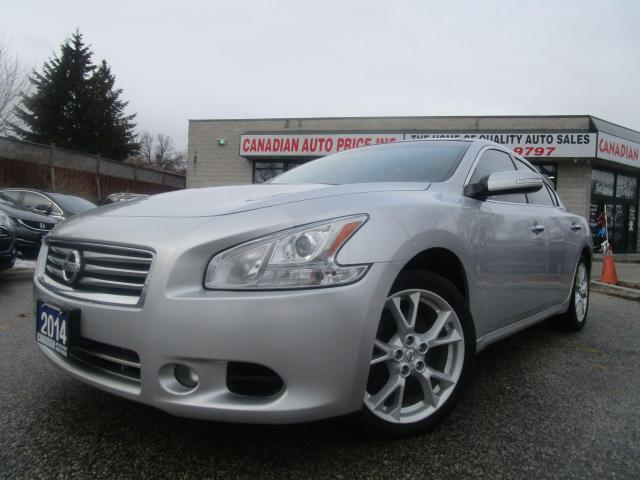 2014 Nissan Maxima 3.5 SV=NAVI-V6-LTHER-CAM-PANORAMIC-ROOF-HTD-BLTOOT