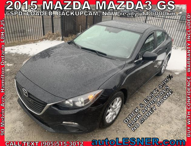 2015 Mazda MAZDA3 -ZERO DOWN, $177 for 60 months FINANCE TO OWN!