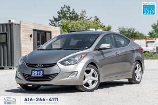 Used 2013 Hyundai Elantra Limited|Leather|Bluetooth|Alloys|Keyless|Htd Seats for sale in Bolton, ON