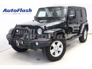 Used 2012 Jeep Wrangler UNLIMITED-SAHARA 4X4 V6 3.6L * Winch 11,000 LBS for sale in St-Hubert, QC