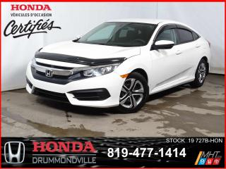Used 2016 Honda Civic LX+CAMÉRA+SIEGCHAUFF+BLUETOOTH+REGVIT for sale in Drummondville, QC