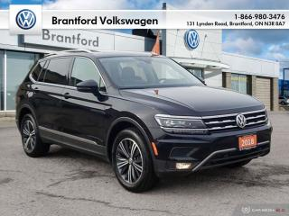 Used 2018 Volkswagen Tiguan Highline 2.0T 8sp at w/Tip 4M for sale in Brantford, ON