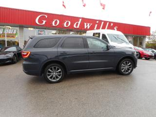 Used 2018 Dodge Durango GT! HEATED LEATHER! NAVI! FACT. WARRANTY! 7 PASS! for sale in Aylmer, ON