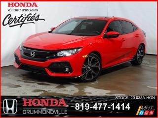 Used 2019 Honda Civic Sport+TOITOUV+CAMÉRA+BLUETOOTH+MAG+REGVIT for sale in Drummondville, QC