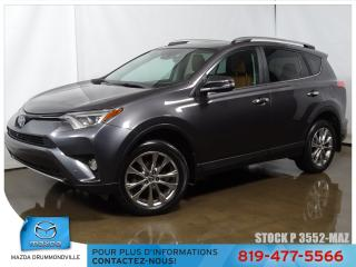 Used 2017 Toyota RAV4 Limited AWD CUIR TOITOUV GPS SIEGCHAUF for sale in Drummondville, QC