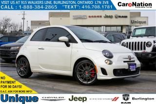 Used 2019 Fiat 500 ABARTH| NERO & ROSSO LEATHER| NAV| SUNROOF| BEATS for sale in Burlington, ON