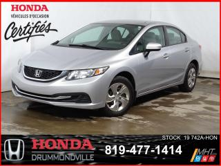 Used 2015 Honda Civic LX+CAMÉRA+SIÈGCHAUFF+BLUETOOTH+A/C+REGVIT for sale in Drummondville, QC