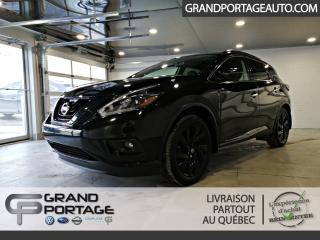Used 2018 Nissan Murano *Édition Minuit* AWD **Cuir**GPS** Toit for sale in Rivière-Du-Loup, QC