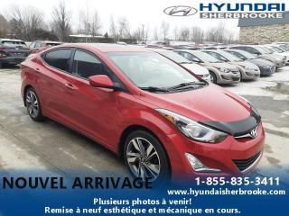 Used 2015 Hyundai Elantra GLS+CAMERA+DEMARREUR+BANCS CHAUFF+TOIT for sale in Sherbrooke, QC