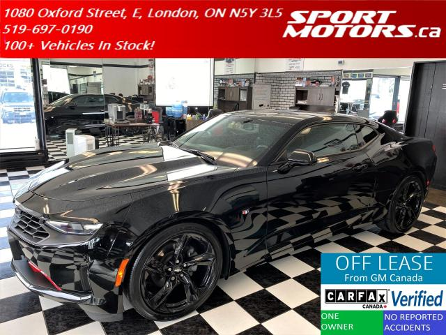 "2019 Chevrolet Camaro LT+Camera+Black 20"" Alloys+ApplePlay+Accident Free"
