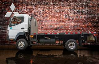 Used 2012 Mitsubishi Fuso 4X4 FLAT DECK for sale in Red Deer, AB