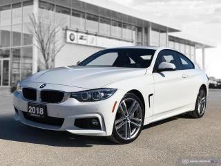 Used 2018 BMW 4 Series 440i xDrive Alpine White On Coral Red for sale in Winnipeg, MB