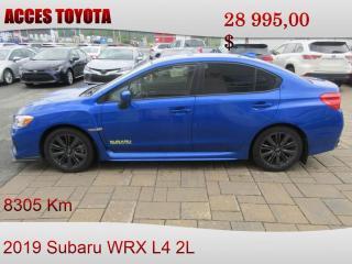 Used 2019 Subaru WRX 8305KM NOUVEAU PRIX for sale in Rouyn-Noranda, QC