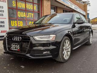 Used 2016 Audi A4 Progressiv+ AWD NAV B/P CAM ACCIDENT FREE ONTARIO for sale in Burlington, ON