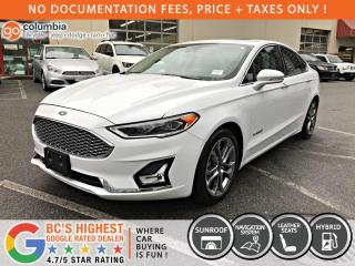 Used 2019 Ford Fusion Hybrid Titanium Hybrid - No Accident / Local / Leather / Nav / Sunroof for sale in Richmond, BC