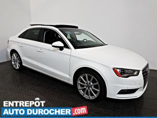 Used 2016 Audi A3 2.0T Progressiv AWD TOIT OUVRANT - A/C - Cuir for sale in Laval, QC