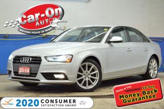 Used 2014 Audi A4 2.0 Progressiv LEATHER NAV SUNROOF HTD SEATS LOADE for sale in Ottawa, ON
