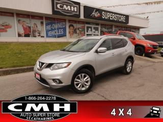 Used 2016 Nissan Rogue SV  AWD CAM HS 8W-P/SEAT BT ALLOYS for sale in St. Catharines, ON