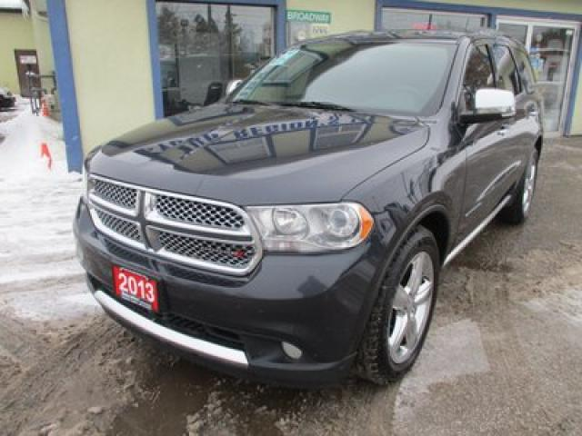 2013 Dodge Durango ALL-WHEEL DRIVE CITADEL VERSION 7 PASSENGER 5.7L - V8.. BENCH & 3RD ROW.. NAVIGATION.. LEATHER.. HEATED/AC SEATS.. POWER SUNROOF.. BACK-UP CAMERA..