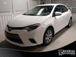 Used 2016 Toyota Corolla LE - SEULEMENT 18300 KM** A/C** CAMERA RECUL for sale in Ste-Julie, QC