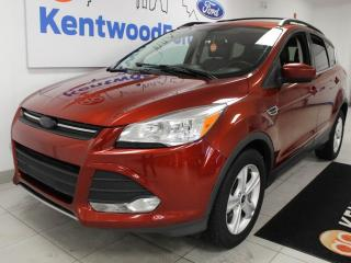 Used 2015 Ford Escape SE FWD ecoboost with heated power leather seats, keyless entry and a back up cam for sale in Edmonton, AB