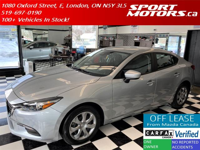 2018 Mazda MAZDA3 GX+New Tires+Camera+Cruise+Accident Free