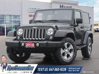 Used 2018 Jeep Wrangler JK SAHARA | BT | AUTO | NAV | RMT STRT & MORE!!! for sale in Milton, ON