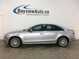 Used 2016 Audi A4 2.0T Komfort plus - QUATTRO! HTD LEATHER! SUNROOF! LOW KMS! for sale in Belleville, ON