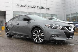 Used 2017 Nissan Maxima SV ONE OWNER WELL MAINTAINED TRADE. NISSAN CERTIFIED PREOWNED! for sale in Toronto, ON