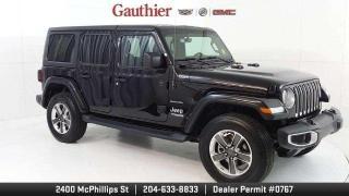 Used 2019 Jeep Wrangler Unlimited Sahara 4dr. 4x4, 3.6L V6, Navigation, Remote Start for sale in Winnipeg, MB