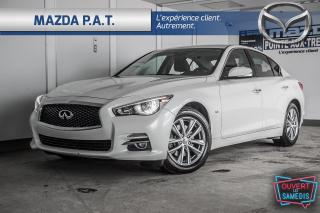 Used 2016 Infiniti Q50 AWD+BLUETOOTH+GPS+CAMERA DE RECUL+CUIR for sale in Montréal, QC