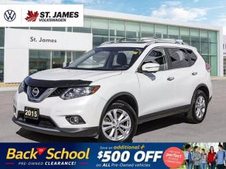 Used 2015 Nissan Rogue SV, LOCAL MANITOBA VEHICLE, PANORAMIC SUNROOF, BACKUP CAMERA for sale in Winnipeg, MB