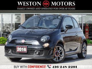 Used 2016 Fiat 500 TURBO* 5SPD* 1.4L *LOW KMS* LEATHER for sale in Toronto, ON