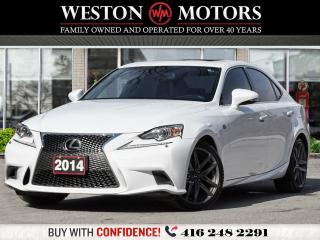 Used 2014 Lexus IS 250 F-SPORT* AWD* NAVI* REVERSE CAM* LEATHER* SUNROOF for sale in Toronto, ON