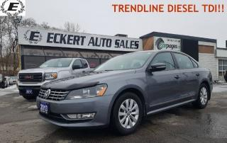 Used 2013 Volkswagen Passat Trendline/TDI/DON'T PAY FOR 6 MONTHS OAC!! for sale in Barrie, ON