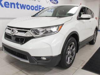 Used 2017 Honda CR-V EX-L AWD with a sunroof, heated power leather seats, heated rear seats, power liftgate and a back up cam for sale in Edmonton, AB