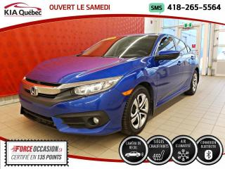 Used 2016 Honda Civic LX* A/C* CAMERA* SIEGES CHAUFFANTS* for sale in Québec, QC